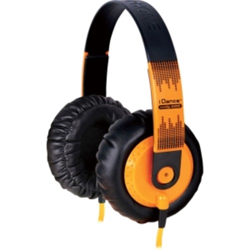 Orange lifestyle headphones for MP3 players iPods & iPhones