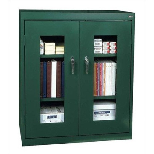 Sandusky Lee EA2V462442-08 Elite Series Clear View Counter Height Storage Cabinet, 24
