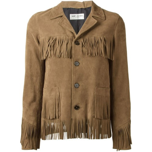 SAINT LAURENT 'Curtis' Fringe Jacket