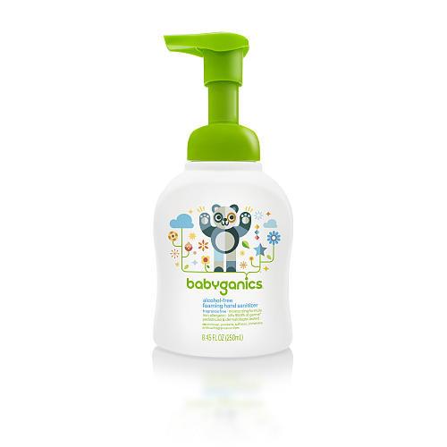 Babyganics Alcohol-Free Foaming Hand Sanitizer- Fragrance Free- 8.45 Ounce Pump Bottle