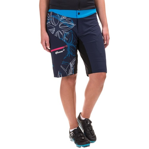 Qloom Sunset Mountain Biking Shorts - Removable Liner Shorts (For Women)