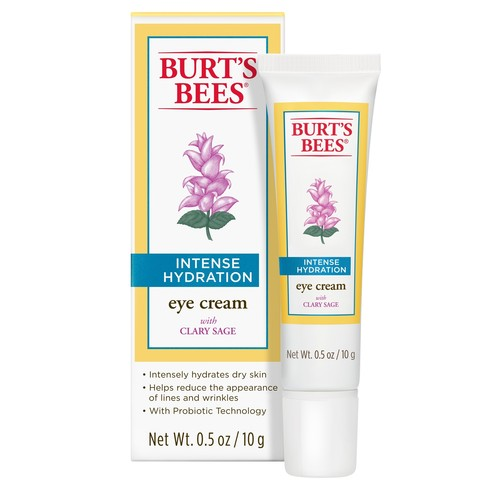 Burts Bees Intense Hydration Eye Cream, with Clary Sage, 0.5 oz (10 g)