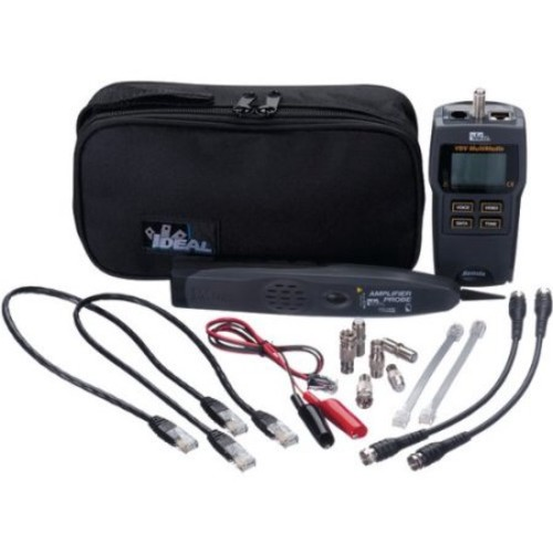 Ideal Test-tone-trace Vdv Kit - Coaxial Cable Testing, Telephone Cable Testing - 9v - Battery Included (33-866)