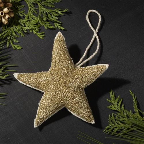 Plush Gold Star Ornament