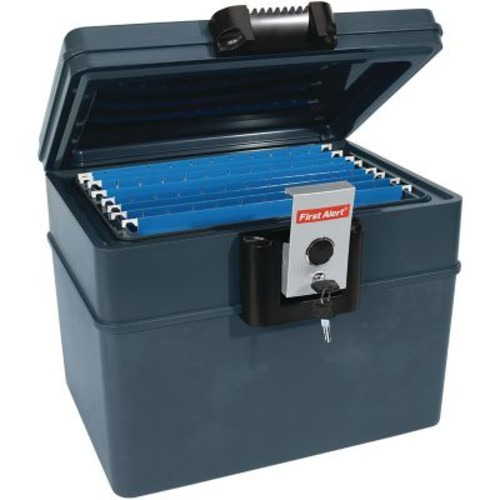 First Alert 2037F 0.62 cu. ft. Fire and Water File Chest, Slate