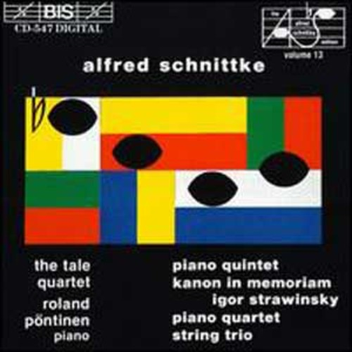 Schnittke: Piano Quintet, String Trio, etc. By Roland Pntinen (Audio CD)