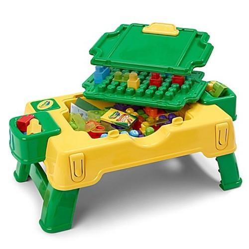 Crayola Building Blocks 30-Piece 2-in-1 Activity Table