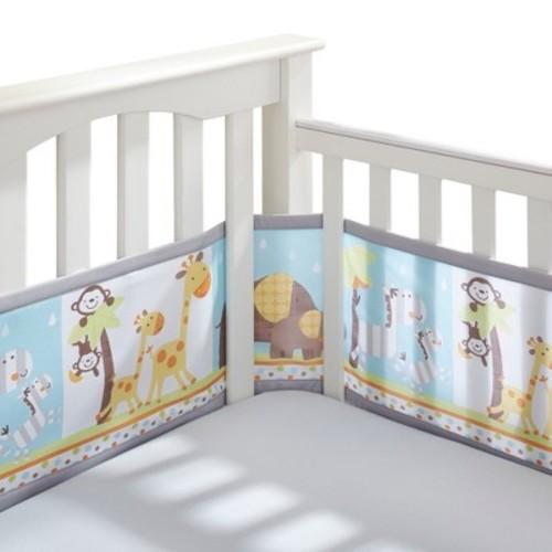 BreathableBaby Mesh Crib Liner - Jungle Animals