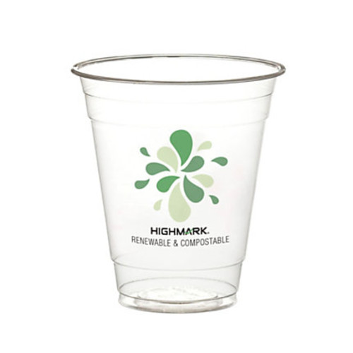 Highmark Renewable Cold Drink Cups, 12 Oz, Clear, Pack Of 500