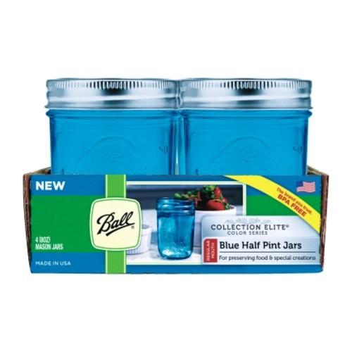 Ball Collection Elite Regular Mouth Canning Jar 8 oz. 4 pk(1440069022)