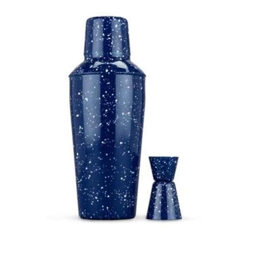 true Enamel Cocktail Shaker and Jigger Set - Blue