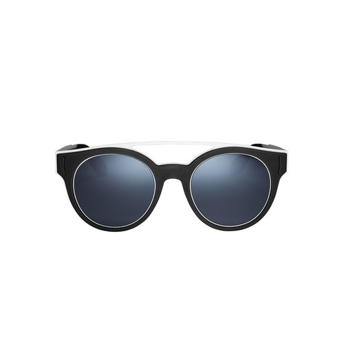 GIVENCHY Black-And-White Rubber Logo Sunglasses