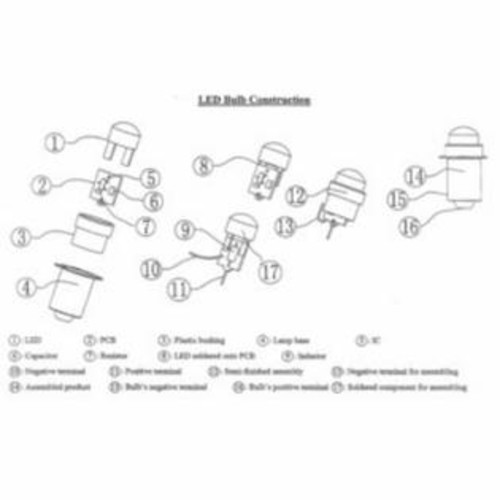 Dorcy 41-1643 LED Replacement Flashlight Bulb, 3-Volt, 30-Lumens