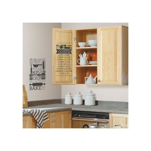 RoomMates 5 in. x 11.5 in. Cooking Conversions Peel and Stick Wall Decal