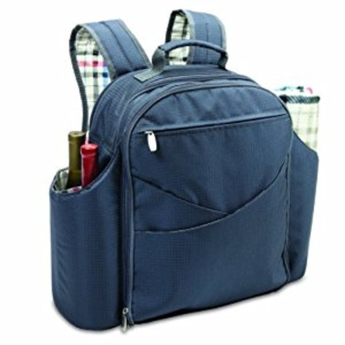 Picnic Time Carnaby St. Big Ben Insulated Backpack Picnic Cooler with Deluxe Service for Four