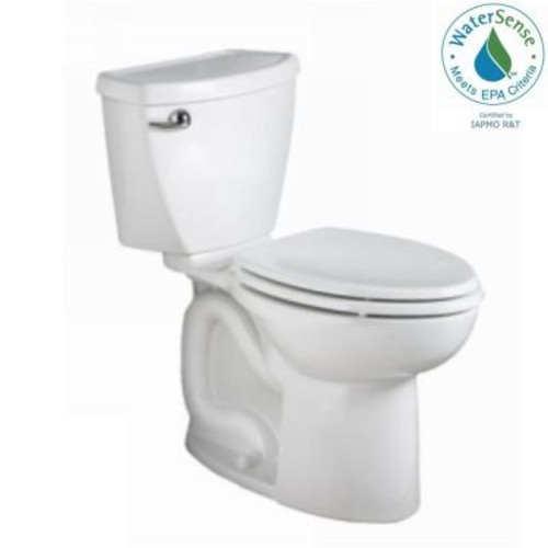 American Standard Cadet 3 Powerwash 10 in. Rough-In 2-Piece 1.28 GPF Single Flush High-Efficiency Elongated Toilet in White
