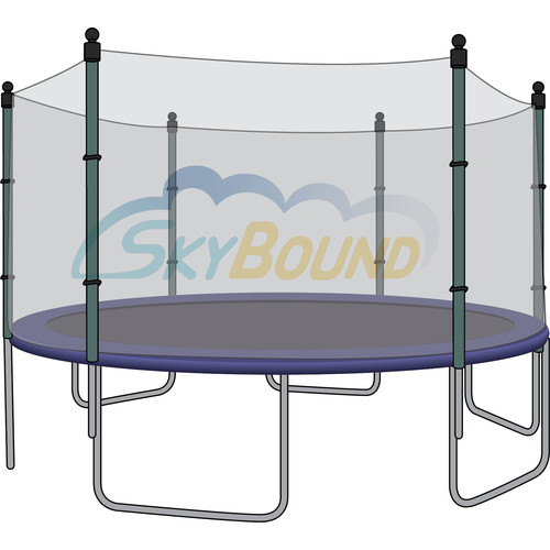 Skybound 15Ft Trampoline Net (Fits Airzone, Bravo, Variflex, Jumptek Brands With 6 Straight-Pole Enclosures) -Net Only