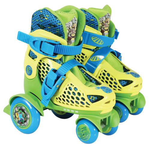 Playwheels Teenage Mutant Ninja Turtles Junior Size 6-9 Kids Big Wheel Quad Roller Skates