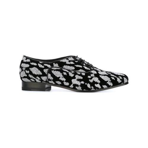 SAINT LAURENT Glitter Detail Oxford Shoes