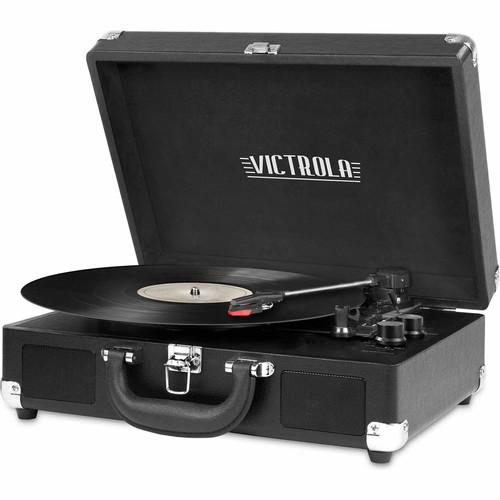 Victrola VSC-550BT BK Vintage 3-Speed Bluetooth Turntable - Black