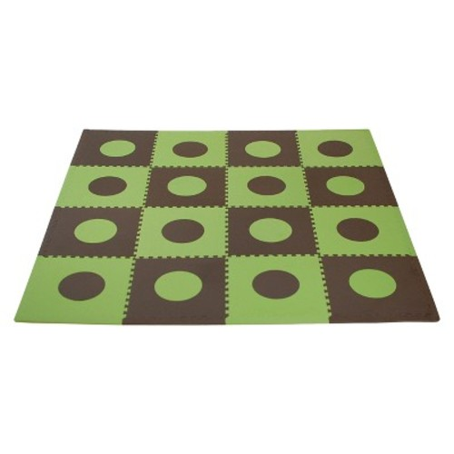 Tadpoles 16 Sq Ft Playmat Set, Green/Brown [Green/Brown]