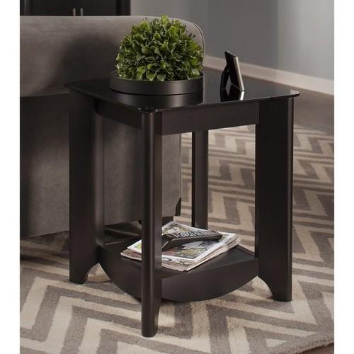 Bush Furniture Coffee, Console, Sofa & End Tables Bush Furniture Aero End Tables in Classic Black