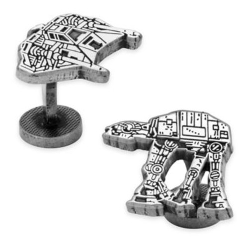 Star Wars Antique-Plated Snowspeeder and AT-At Walker Battle of Hoth Cufflinks