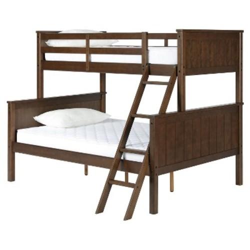 Dorel Living Maxton Twin Over Full Bunk Bed - Mocha