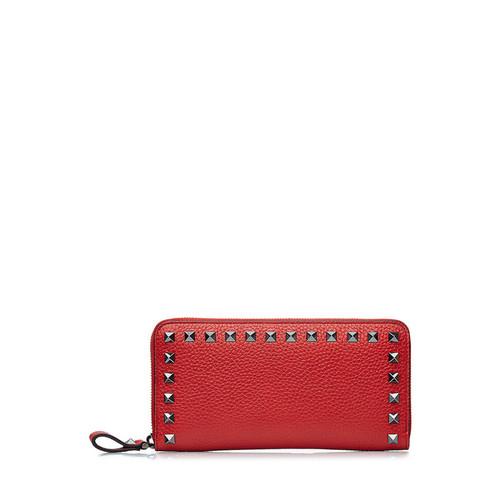 Rockstud Leather Wallet