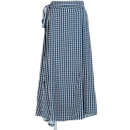 PREEN BY THORNTON BREGAZZI Checked Wrap Skirt
