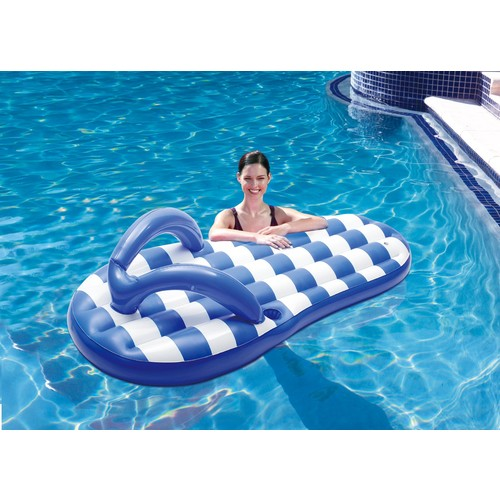 Blue Wave Marine Blue Flip Flop 71 in. Inflatable Pool Float