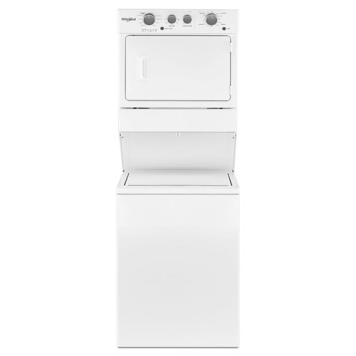 Whirlpool 3.5 cu. ft. Gas Stacked Laundry Center with 9 Wash cycles and Auto Dry in White