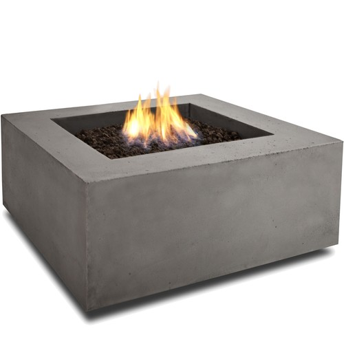 Real Flame Baltic Square Natural Gas Fire Table