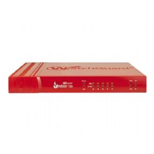 WatchGuard Firebox T30 - Security appliance - with 3 years Security Suite - 5 ports - 10Mb LAN, 100Mb LAN, GigE - WatchGuard Trade Up Program