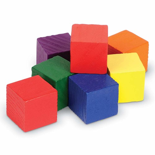 Learning Resources Wooden Color Cubes [1]