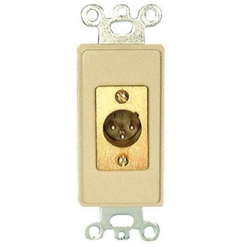Comprehensive Single Gang Wallplate Style Insert with XLRM-Solder, White Decora WP-5700-S-W