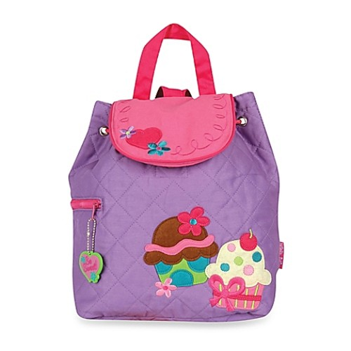 Stephen Joseph Cupcake Quilted Backpack in Purple