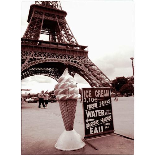 Trademark Fine Art 'Eiffel Tower with Ice Cream Cone 2' Canvas Art by Kathy Yates