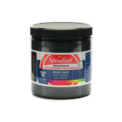Speedball Opaque Fabric Screen Printing Inks Black Pearl 8 Oz. [Pack Of 2] (2PK-4800)