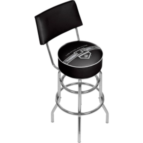 Trademark Games Los Angeles Kings Padded Swivel Bar Stool with Back