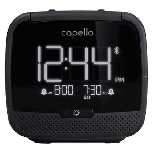 Capello Alarm Clock Radio - Black