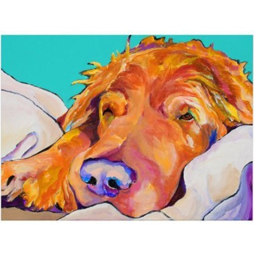 Snoozer King by Pat Saunders-White, 18x24-Inch Canvas Wall Art [18 by 24-Inch]