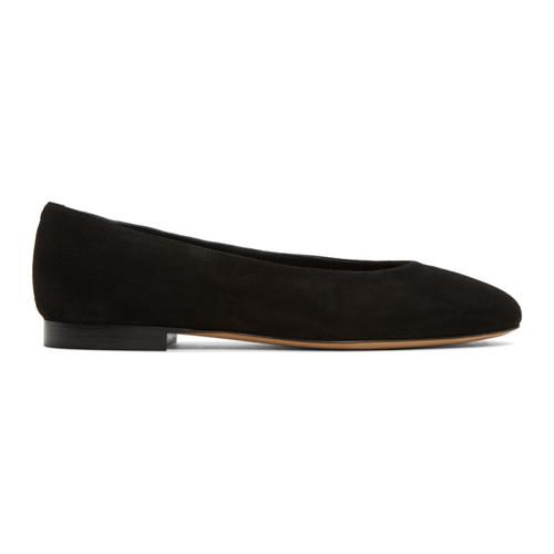 MANSUR GAVRIEL Black Suede Ballerina Flats