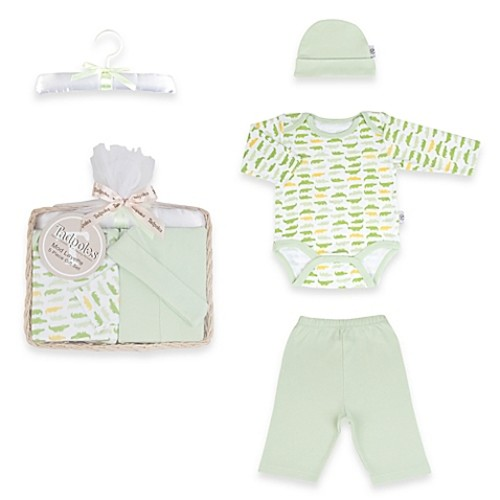Tadpoles by Sleeping Partners Mod Zoo Size 0-6M 5-Piece Gift Set in Green Gator
