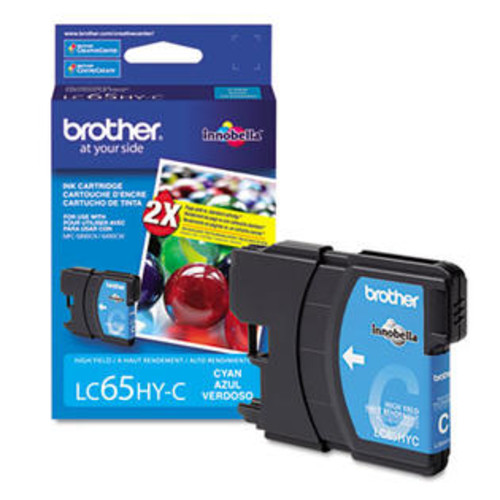 Brother LC65HYC (LC-65HYC) Innobella High-Yield Ink, 750 Page-Yield, Cyan