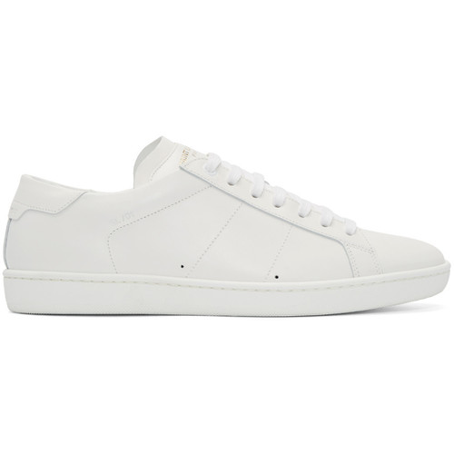 White Leather SL/01 Court Classic Sneakers