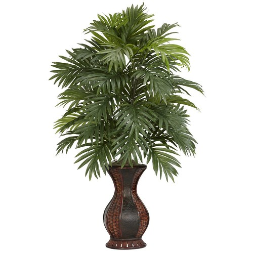 Nearly Natural 37 in. H Green Areca Palm with Urn Silk Plant