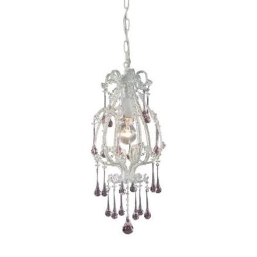 Titan Lighting Opulence 1-Light Antique White Ceiling Pendant