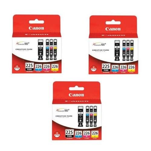 Canon 3x PGI-225 Black/CLI-226 Cyan/Magenta/Yellow, 4 Pack