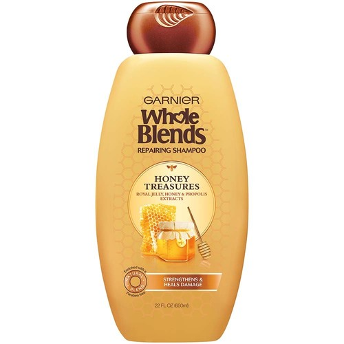 Garnier Whole Blends Honey Treasures Repairing Shampoo, 22 fl oz, 1 Count